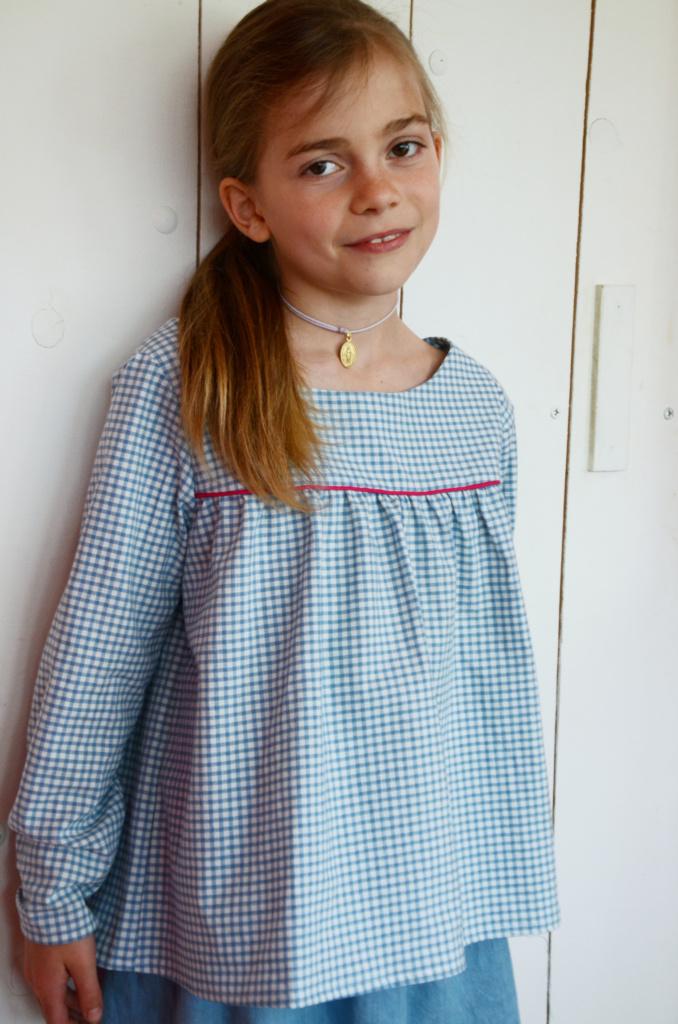 La blouse Miss Fronce vichy portée